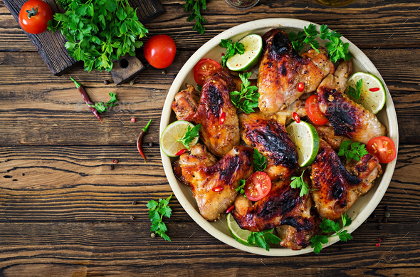 Chicken Wings Of Barbecue In Sweetly Sour Sauce Picnic Summer Menu