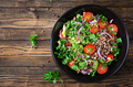 Buckwheat salad with cherry tomatoes, red onion and fresh herbs - PhotoDune Item for Sale