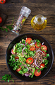 Buckwheat salad with cherry tomatoes, red onion and fresh herbs.  - PhotoDune Item for Sale