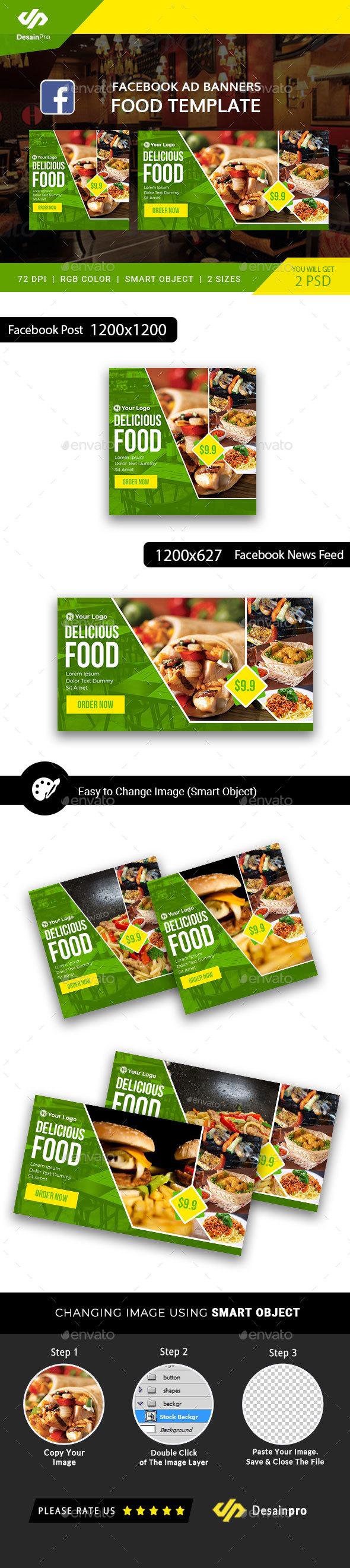 Food Business FB Ad Banner - AR