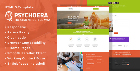 Psychoera - Treatment and Health HTML Template - Health & Beauty Retail