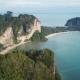 Aerial Panorama of Sea and Rocks in Krabi - VideoHive Item for Sale