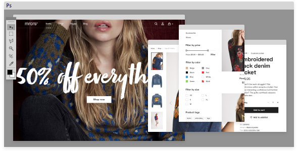 Mercurius eCommerce PSD Template