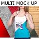 T-shirt Multi Mock Up