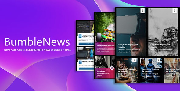 BumbleNews - News Card Grid Showcase - CodeCanyon Item for Sale