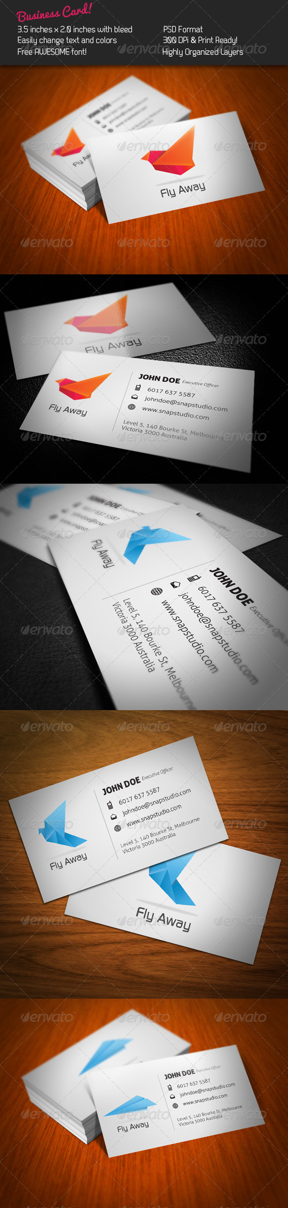 Fly Business Card - Corporate Business Cards