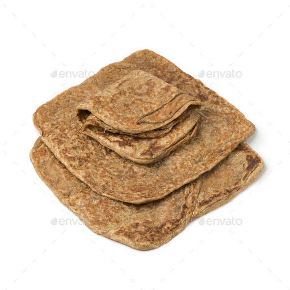Traditional Moroccan whole grain pancakes named msemen - Stock Photo - Images