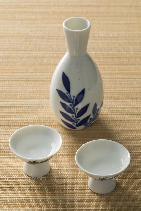 Japanese sake set - Stock Photo - Images