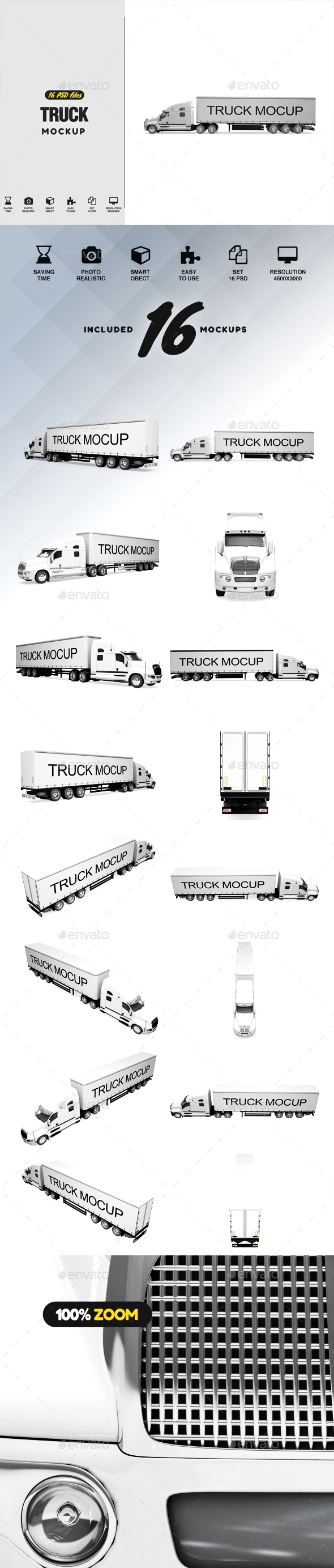 Truck Mockup - Vehicle Wraps Print