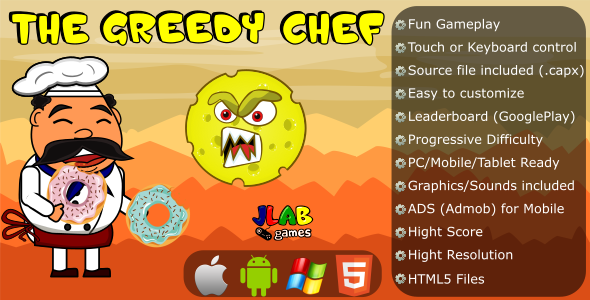 The Greedy Chef - CAPX (HTML5 and Mobile) - CodeCanyon Item for Sale