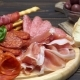 Video of Italian Meat Plate - Sliced Prosciutto, Sausage and Grissini - VideoHive Item for Sale