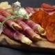 Video of Italian Meat Plate - Sliced Prosciutto, Sausage, Grissini and Parmesan - VideoHive Item for Sale