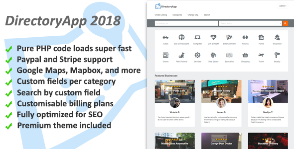 Directoryapp - Business Directory - CodeCanyon Item for Sale