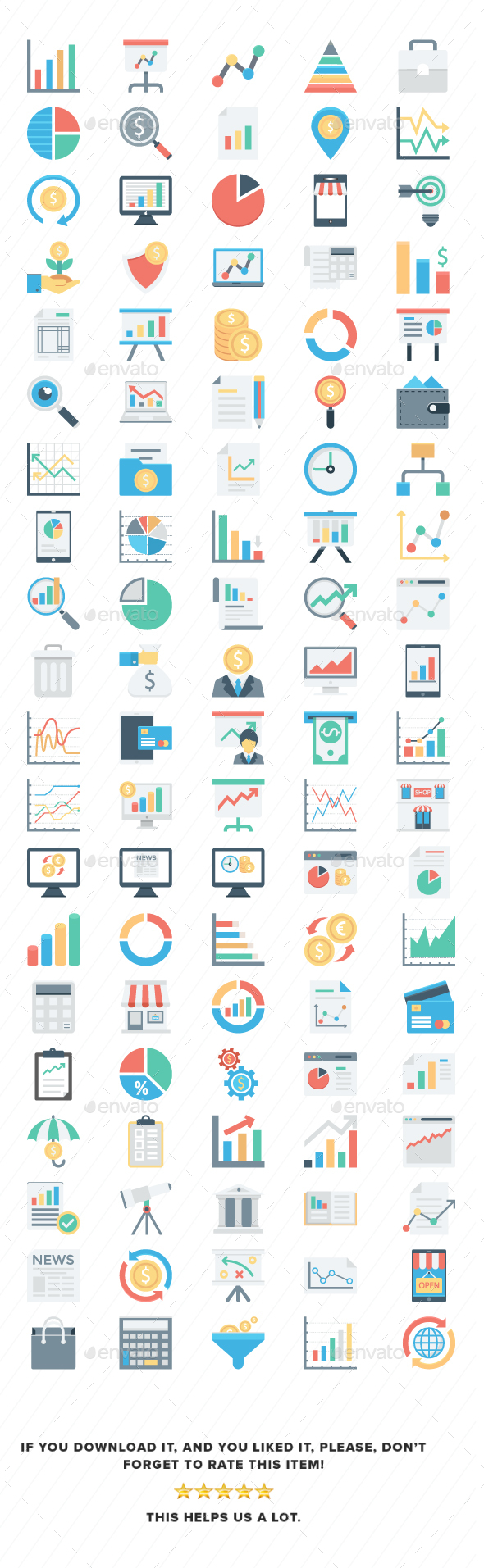Market and Economics Color Vector Icons - Business Icons