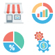 Market and Economics Color Vector Icons - GraphicRiver Item for Sale