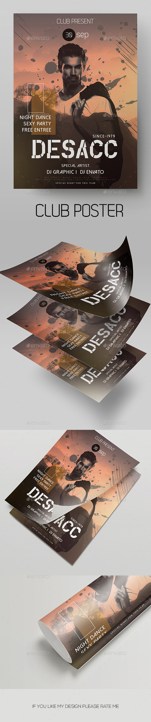 Guest DJ Flyer Template - Clubs & Parties Events