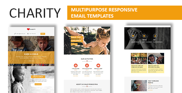 Image of Charity - Multipurpose Responsive Email Template With Online StampReady Builder Access