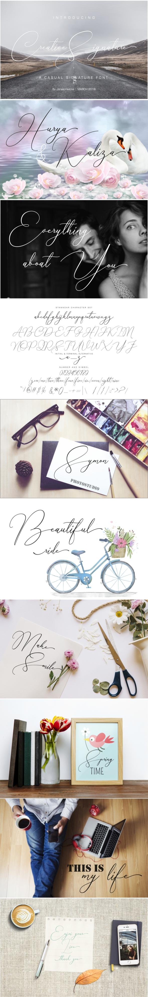 Creative Signature - Script Fonts