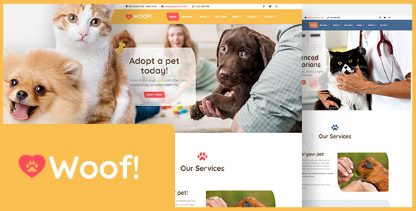 Woof! - Pet WordPress Theme - Business Corporate
