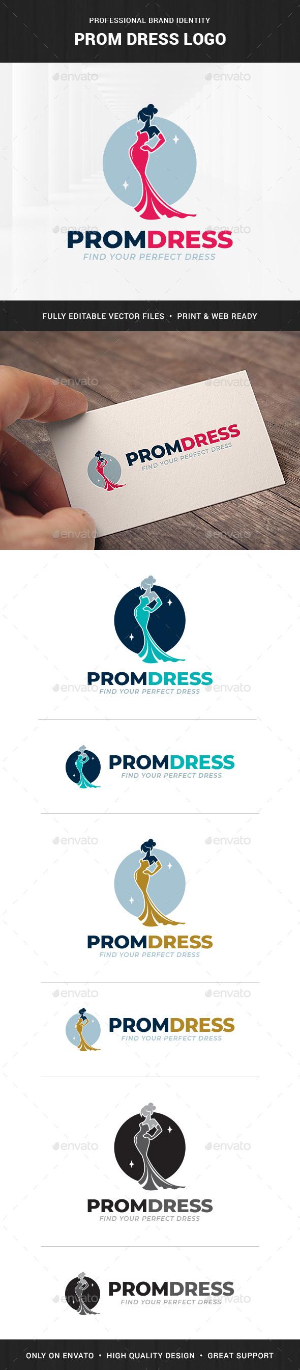Prom Dress Logo Template - Humans Logo Templates