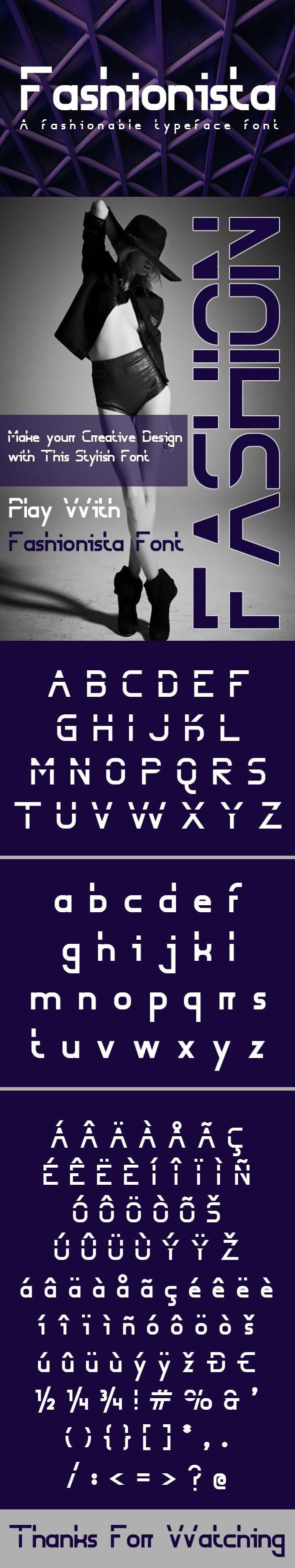 Fashionista Font - Sans-Serif Fonts