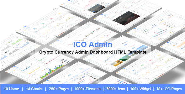 ICO Admin - Cryptocurrency Dashboard UI Kit - Admin Templates Site Templates