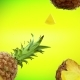 Pineapple Fresh on Lime Green Background - VideoHive Item for Sale