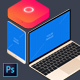 Isometric Responsive Flat Devices PSD Mockup - GraphicRiver Item for Sale