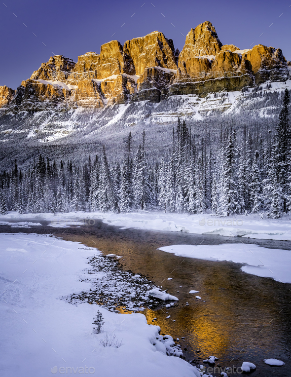 castle mountain - Stock Photo - Images