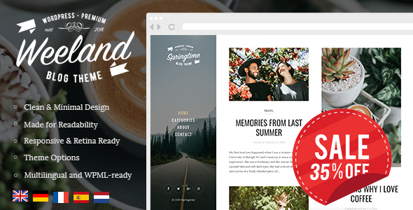 Image of Weeland - Masonry Lifestyle WordPress Blog Theme