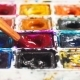 Artist Brush Mix Color Oil Painting on Palette . - VideoHive Item for Sale