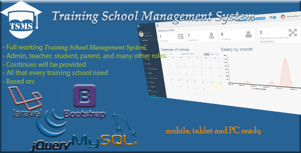 Training School Management System - TSMS ← Laravel-VueJs com