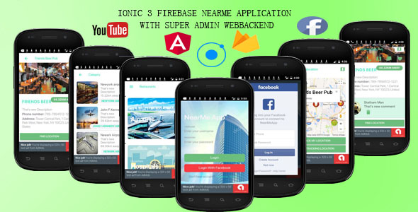 NEARME /Ionic 3 Firebase/ application - CodeCanyon Item for Sale