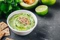 Avocado dip with cilantro and lime