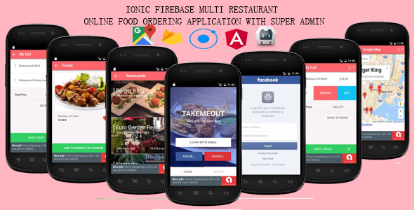 Ionic Firebase - Multi Restaurant Online Food Ordering System - CodeCanyon Item for Sale