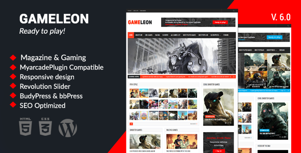 Image of Gameleon - WordPress Magazine & Arcade Theme