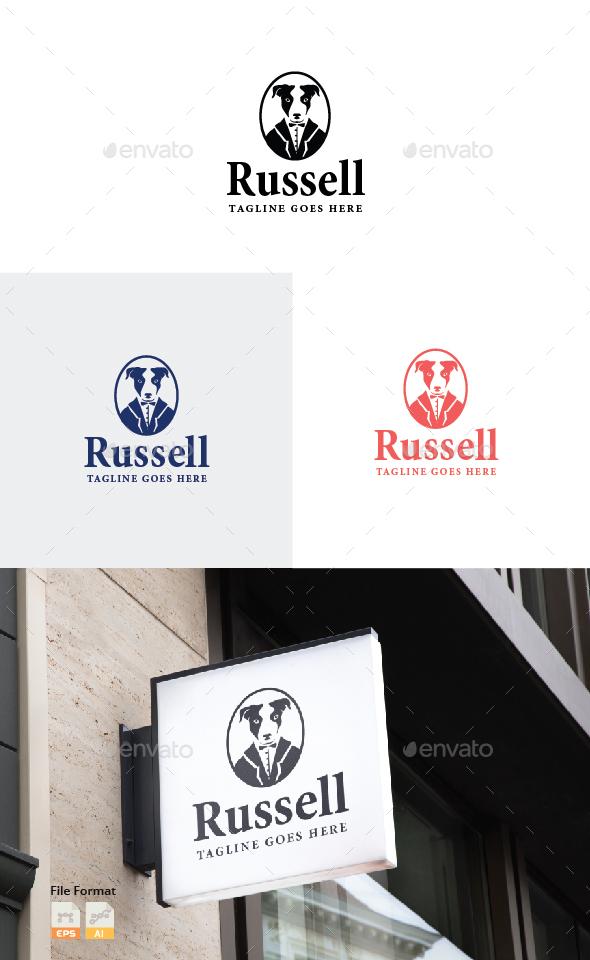 Gentleman Dog Logo - Animals Logo Templates