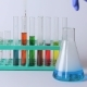 Laboratory Flasks and Beakers on the Table - VideoHive Item for Sale