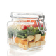 caesar salad in glass jar on white background - PhotoDune Item for Sale