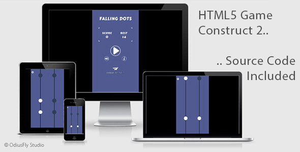 Falling Dots - HTML5 Game (Construct 2) - CodeCanyon Item for Sale