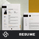 Resume and Letter - Whitehorse - GraphicRiver Item for Sale