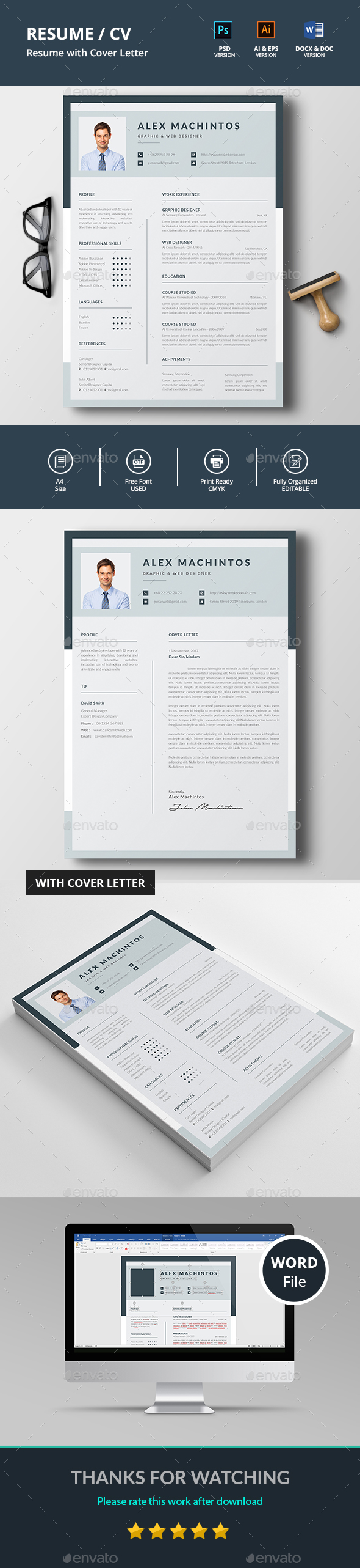 Professional Resume & Cover Letter - Resumes Stationery