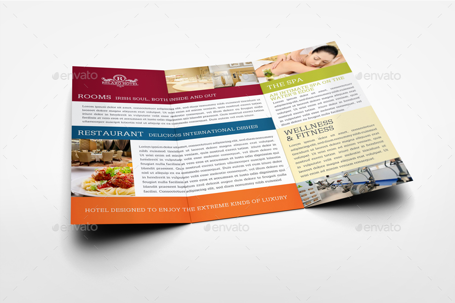 Hotel and Motel Tri-Fold Brochure Template Vol.2 by OWPictures ...