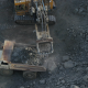 Aerial view of mining excavator - VideoHive Item for Sale