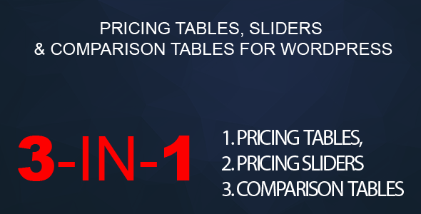 WordPress Pricing Tables, Sliders & Comparison Tables - CodeCanyon Item for Sale