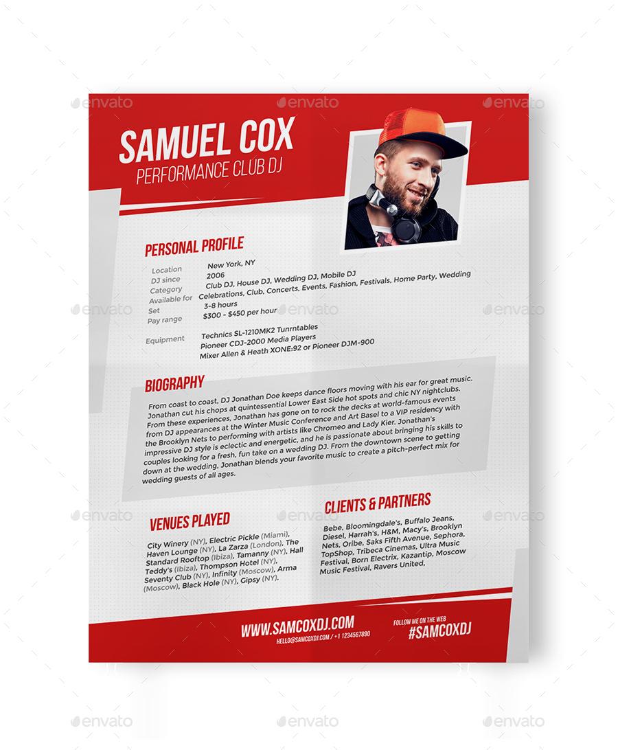 Fantastic Dj Press Kit Template Ideas - Entry Level Resume Templates ...