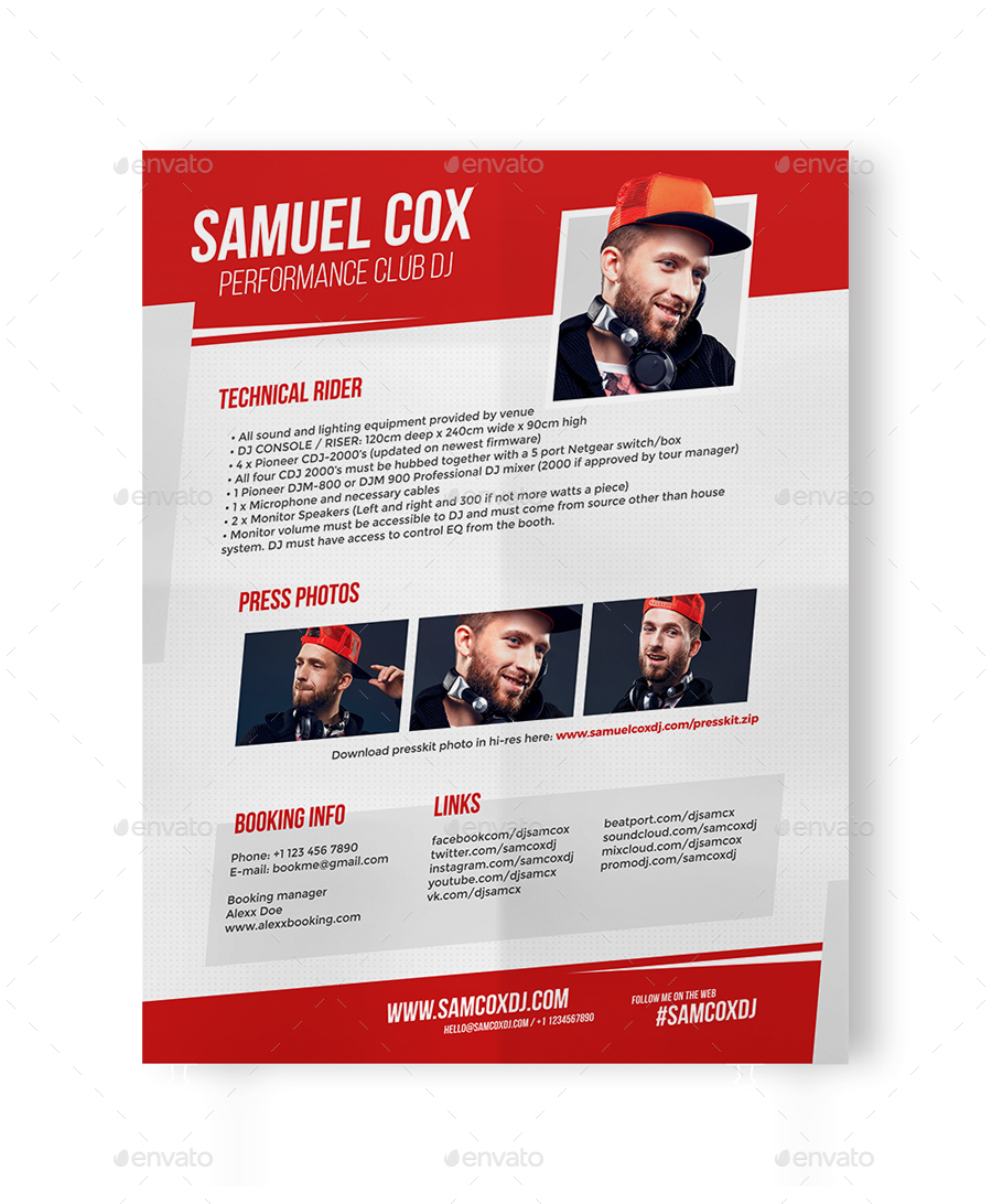 DJ Press Kit / DJ Resume / DJ Rider PSD Template by vinyljunkie ...
