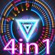 VJ Tri Neon Lights - VideoHive Item for Sale