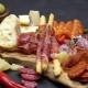 Meat Plate - Salami and Chorizo Sausage  on a Wood Board - VideoHive Item for Sale