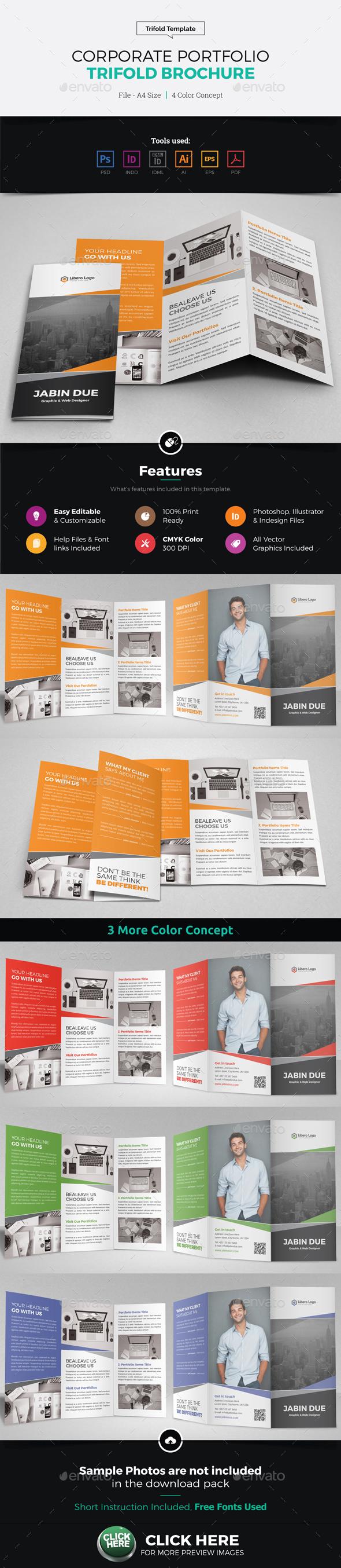 Portfolio Trifold Brochure Design - Corporate Brochures
